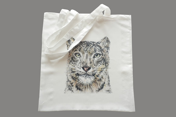 Snow Leopard Eco-Friendly Tote Bag for Life