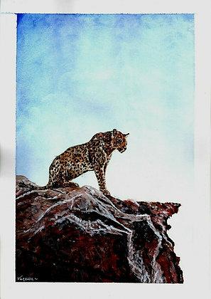 Leopard Original A4 Painting