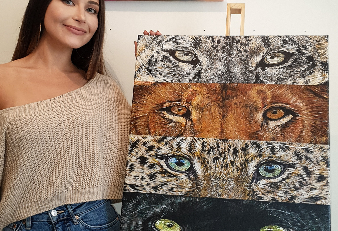 """Acrylic painting: """"Panthera: Now You See Me..."""""""