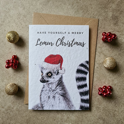 Plantable Collection Ring-Tailed Lemur Card - No Waste Eco-friendly