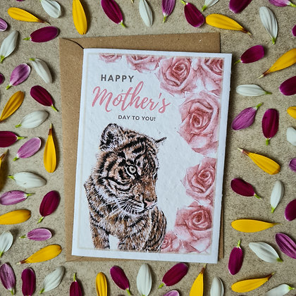 Plantable Collection Mother's Day Tiger Card - No Waste Eco-friendly