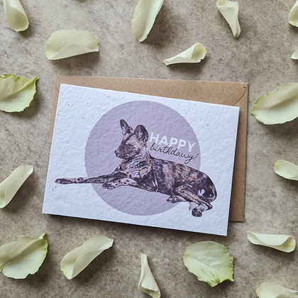 """Plantable Collection Painted Dog """"Happy Birthdawg!"""" Card No Waste Eco-friendly"""