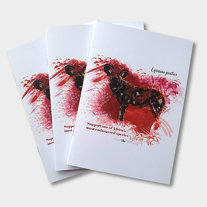 Painted Dog A6 Notebook