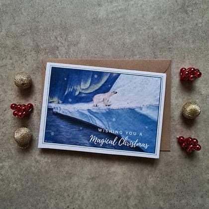 """Plantable Collection Polar Bear """"Magical Christmas"""" Card - No Waste Eco-friendly"""