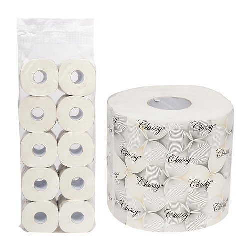 Classy 2-ply Toilet Paper, 348 Sheets per Roll- 4 Rolls/pack