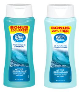 White Rain Moisturizing Shampoo and Conditioner, Active Botanicals, Ocean Mist
