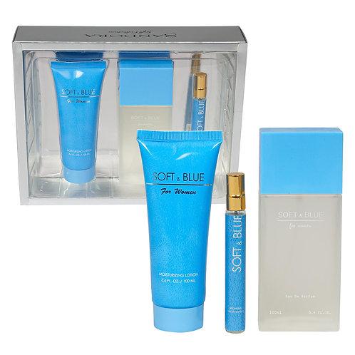 Soft & Blue by Sandora Fragrances, 3-Piece Set