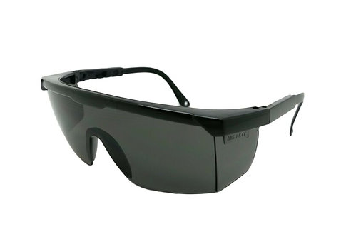 Personal Protective Equipment- Safety Glasses Grey Smoke Lens, Adjustable Temple