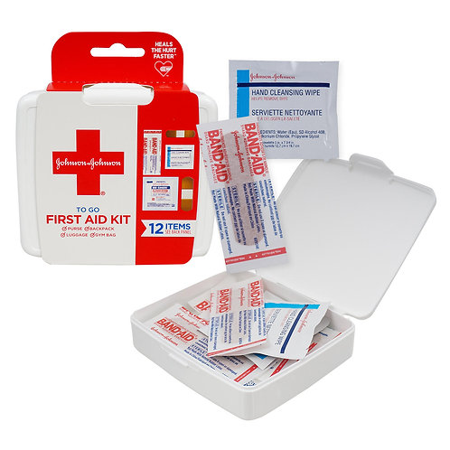 Johnson and Johnson 'To Go' First Aid Kit- 12 Piece Kit