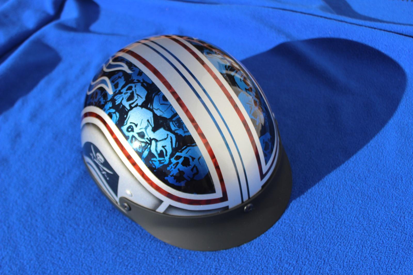 d21b5a5ff2f7 Motorcycle Helmets- Skulls and Stripes. Custom Action