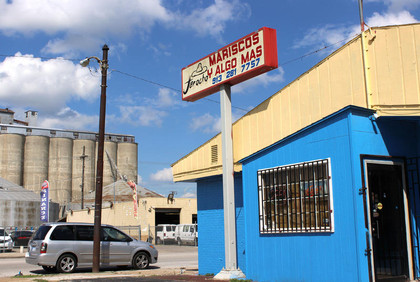 """In Kansas City, Kansas, just off I-70, across from an automotive plant, there's a little blue shack, with a sign: """"Jarocho Mariscos y Algo Mas."""" Yes, on Kansas Avenue, in the landlocked heart of the United States, you'll find the smells and tastes of the Gulf of Mexico."""