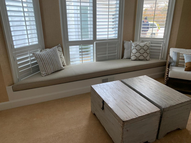 Shaped Window Seat Cushion