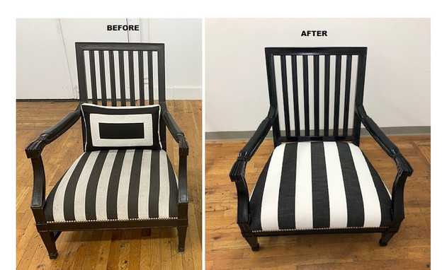 Before and After Outdoor Chairs. Refinis