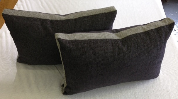 """Boxed Rectangular Pillows with 2"""" Contrast Banding"""