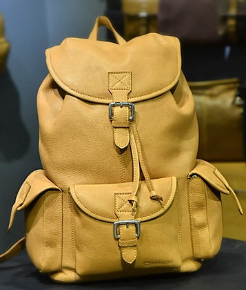 """RUXACKS CLASSIC"" Leather Backpack, 'PEACH' Natural Milled Leather"