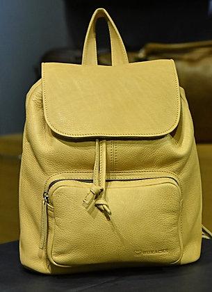 """ALICE""Ladies Backpack, 'Beige' Natural Milled Leather"