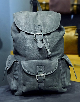 """RUXACKS CLASSIC"" Leather Backpack, 'Black' Tumbled Leather"
