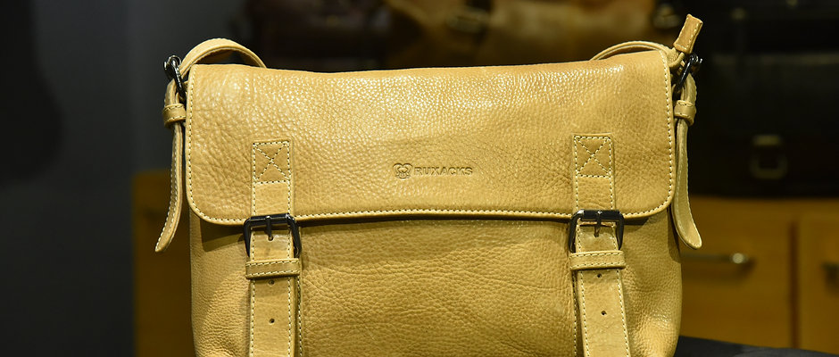 """""""COMMUTERS"""" Leather Satchel, 'DESERT' Hand Milled Leather"""