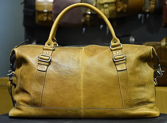 """""""FORESTER"""" Leather Weekender, 'SandStorm' Natural Milled Leather"""