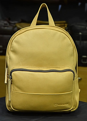 """LILY"" Ladies School Backpack, 'Beige' Natural Milled Leather"
