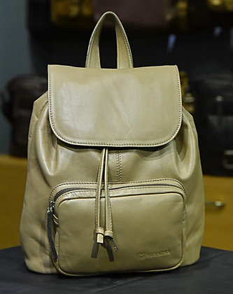 """ALICE"" Ladies Backpack, 'Tint Green' Natural Leather"