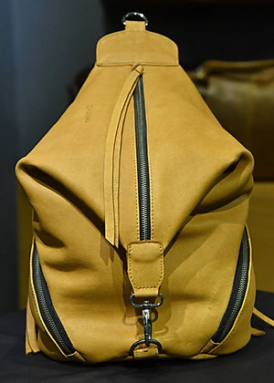 """PENTELOPE"" Ladies Leather Backpack, 'Sand Storm' Natural Milled Leather"
