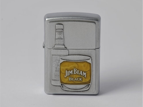 ZIPPO JIM BEAM BOTTLE EMBLEM SATIN CHROME 21111