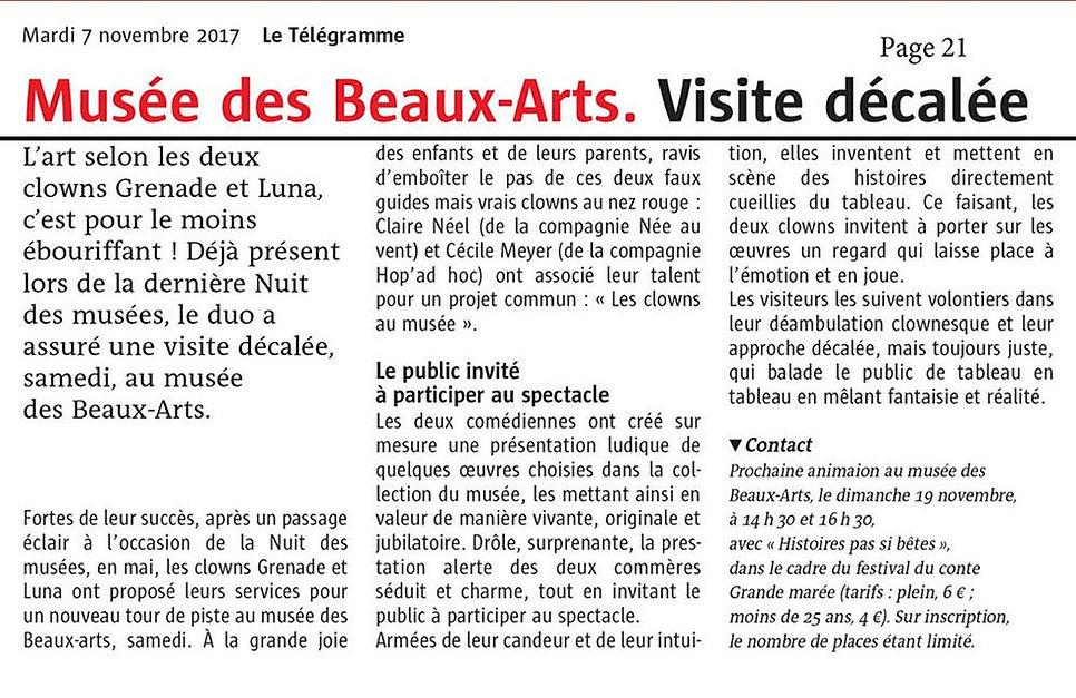 le_télégramme_Brest_Les_clowns_au_musée_