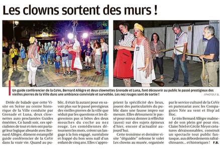 Les clowns quittent la Provence avec un bel article!