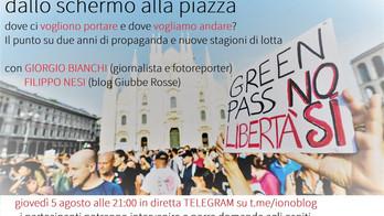 Dallo schermo alla piazza: live su Telegram