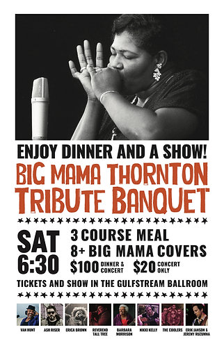 2018 Big Mama Thornton Tribute Poster (Signed)