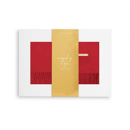 Katie Loxton Red Thick Plain Scarf