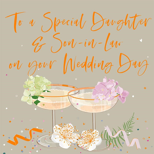 Daughter and Son-In-Law Wedding Day Card