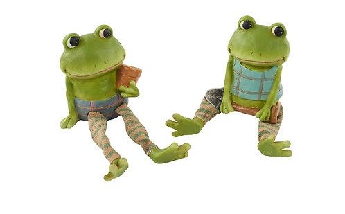 Set of 2 Overshelf Garden Frogs