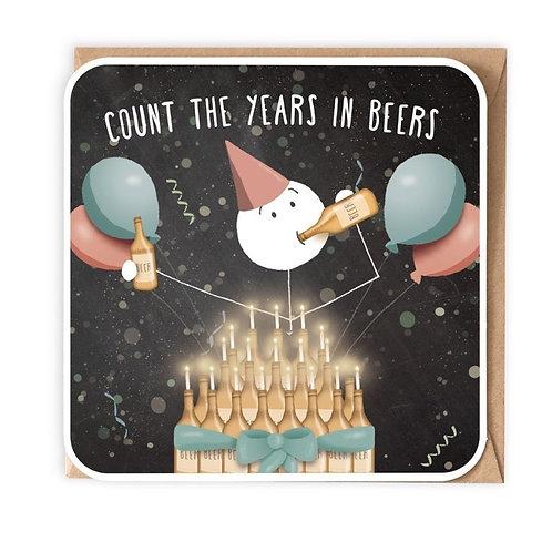 Years In Beers Greeting Card