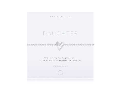 Katie Loxton Sterling Silver 'Daughter' Pave Bracelet