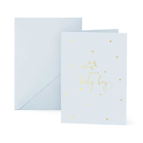Katie Loxton Hello Baby Boy Card