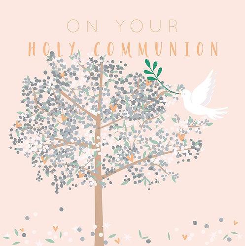 Holy Communion Card - Tree Design