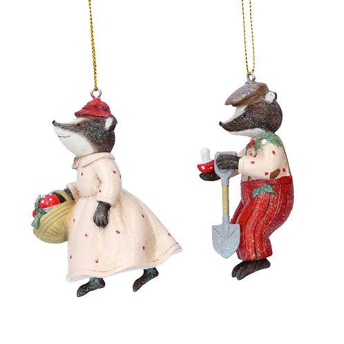 Mr Badger Hanging Ornament