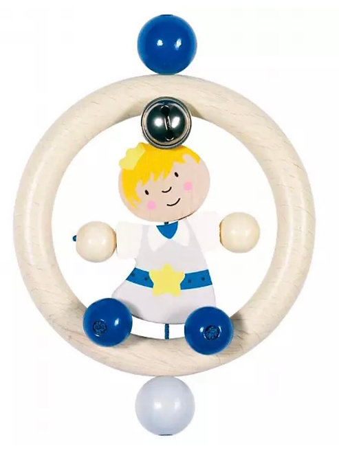 Heimess Wooden Prince Touch Ring Rattle