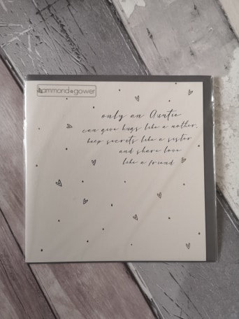 Only an Auntie - Sentiment Card