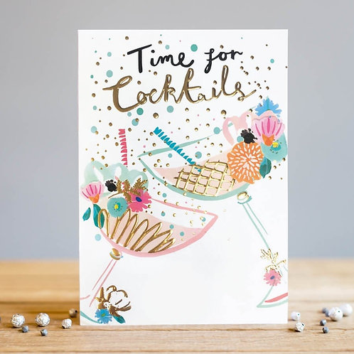 Time For Cocktails Card