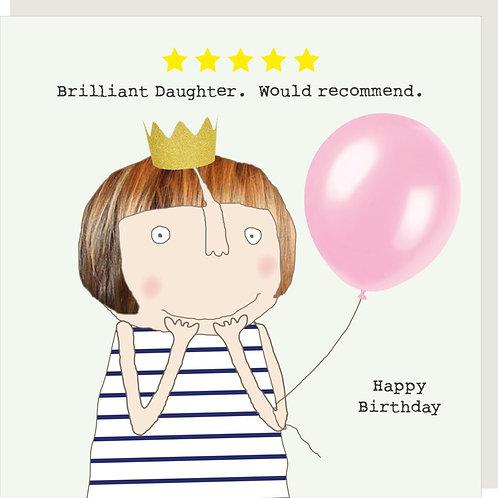 Brilliant Daughter Birthday Card