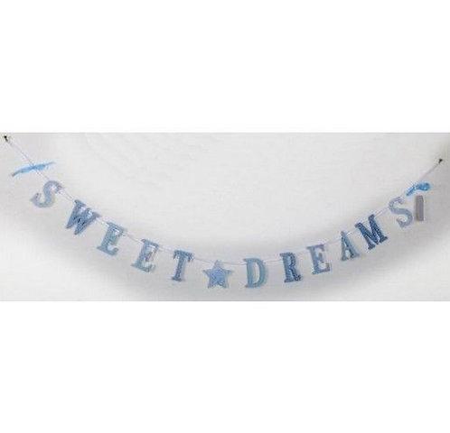 Wooden 'Sweet Dreams' Garland BLUE