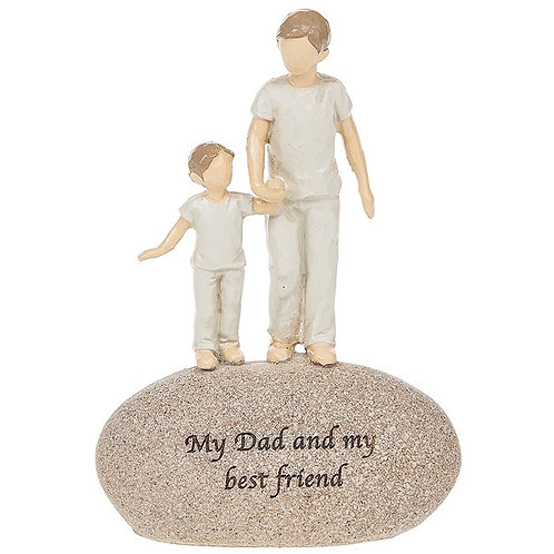 Dad And Son Rock Ornament