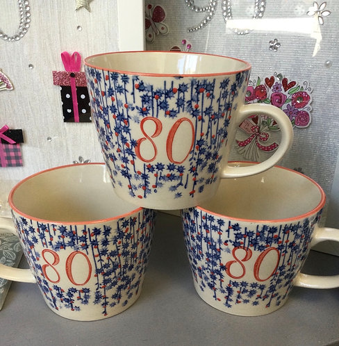 80th Birthday Mug