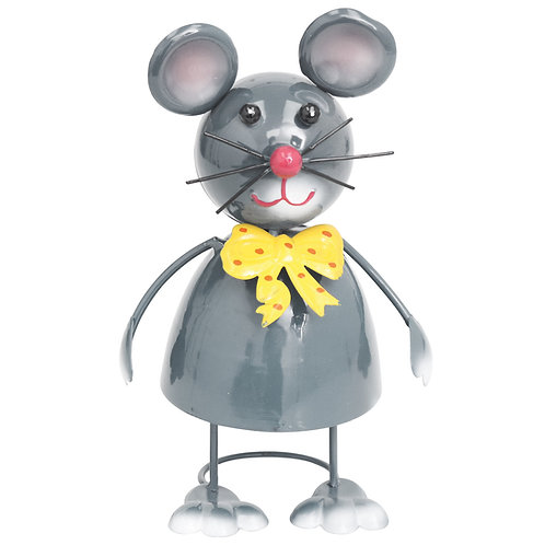 Dancing Mouse Metal Garden Ornament