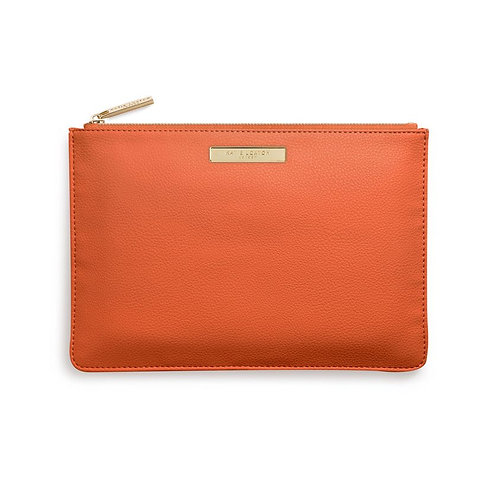 Katie Loxton Burnt Orange Soft Pebble Pouch