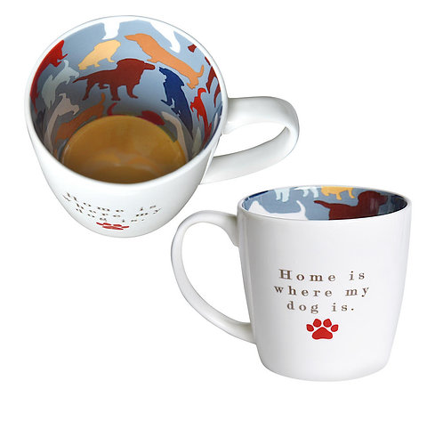 Home Is Where My Dog Is Inside Out Mug