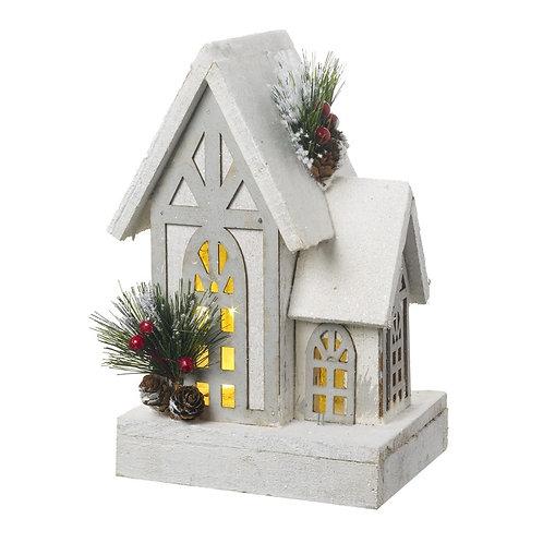 White Wooden LED House